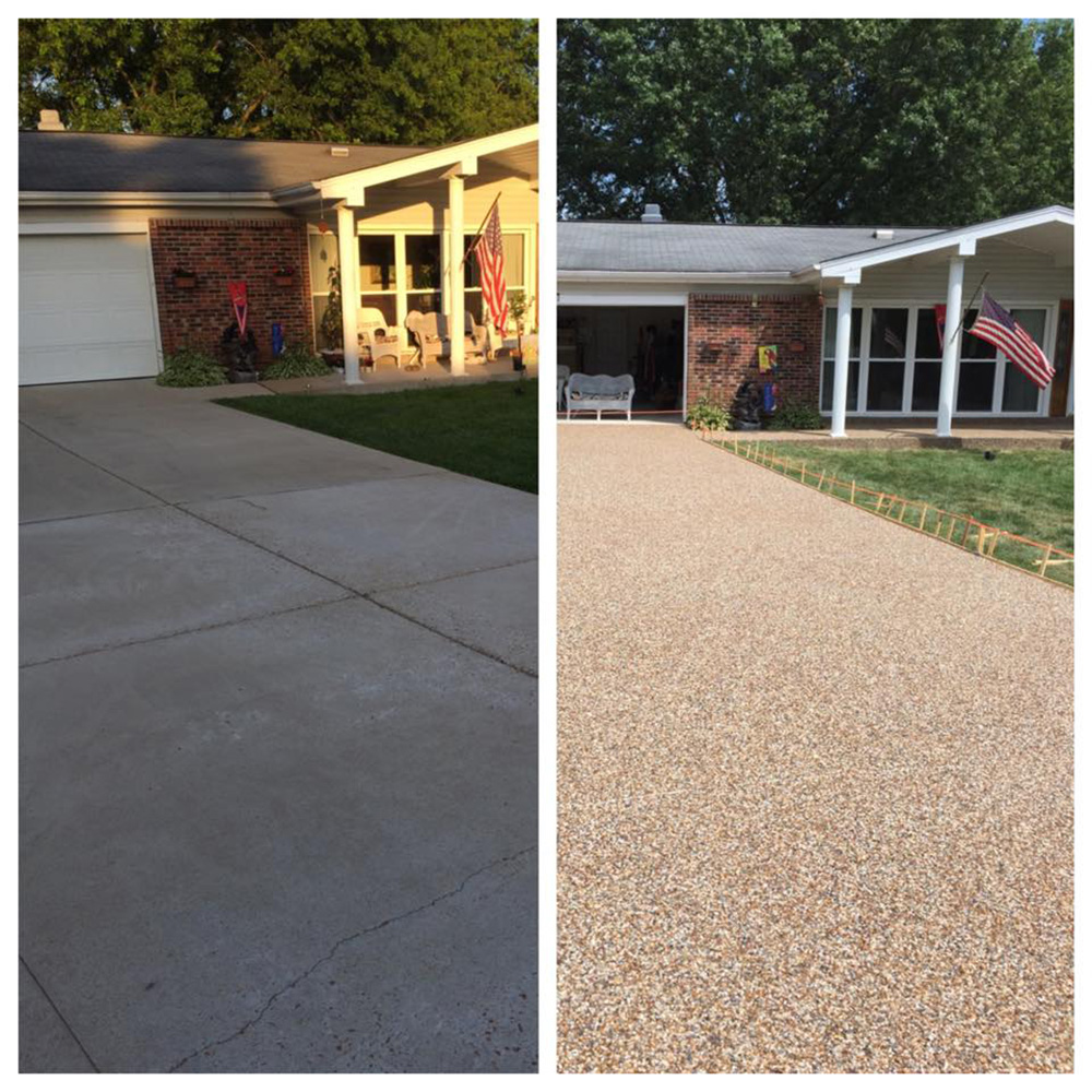 Driveway And Walkway. Before U0026 After Pebble Stone